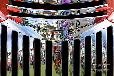 Chevrolet Grille 02 Print by Rick Piper Photography