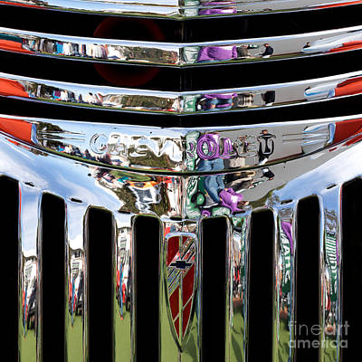 Chevrolet Grille 03 Print by Rick Piper Photography