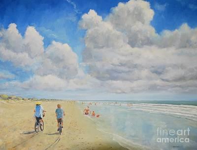 Painting - Bike Beach by Keith Wilkie