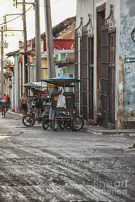 Caribbean Corner Photograph - Bike Taxis In Trinidad by Patricia Hofmeester