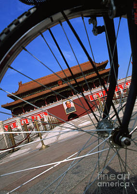 Bike Tianamen Gate Print by Bill Bachmann - Printscapes