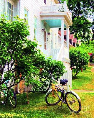 Bikes In The Yard I I Print by Desiree Paquette