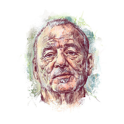 Ghost Busters Drawing - Bill Murray by Chad Lonius
