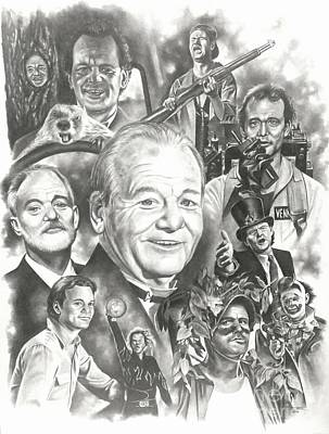 Groundhog Drawing - Bill Murray by James Rodgers