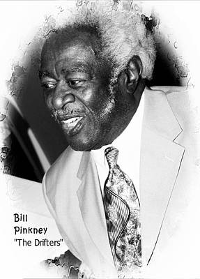 Bill Pinkney Of The Drifters Print by Bob Pardue