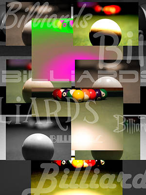 Billiards Print by Andre  Persun