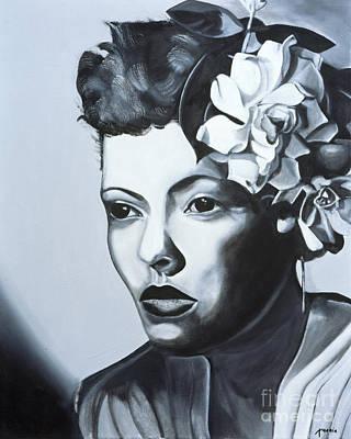 African American Artist Painting - Billie Holiday by Kaaria Mucherera
