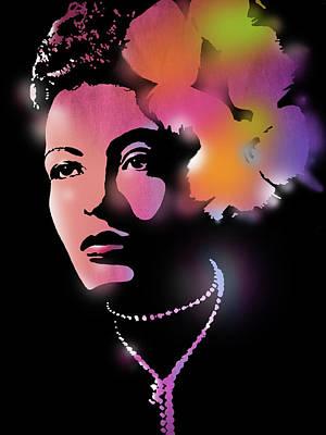 Billie Holiday Print by Paul Sachtleben
