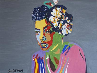 Surreal Painting - Billie Holiday by Stormm Bradshaw