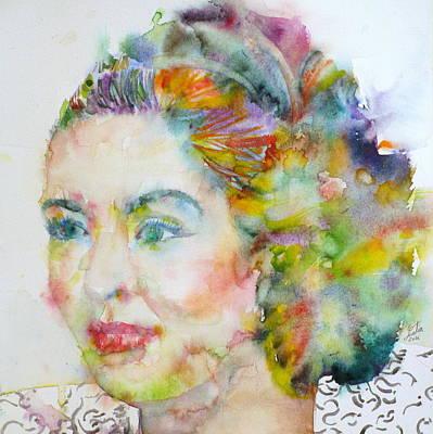 Eleonora Painting - Billie Holiday - Watercolor Portrait by Fabrizio Cassetta