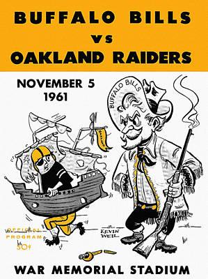 Bills Vs Raiders 1961 Program Print by John Farr