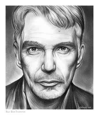 American Actor Drawing - Billy Bob Thornton by Greg Joens