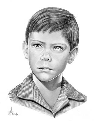 Famous People Drawing - Billy Mumy by Murphy Elliott