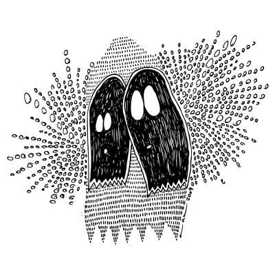 Impression Drawing - Binary Ghost by Karl Addison