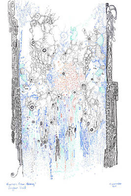 Chemical Drawing - Bingham Fluid Or Paste by Regina Valluzzi