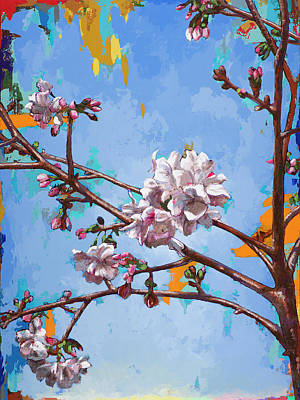 Cherry Blossoms Painting - Biosphere #6 by David Palmer