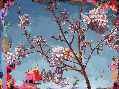 Cherry Blossoms Painting - Biosphere #7 by David Palmer