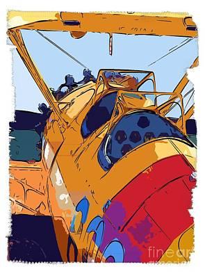 Biplane Print by Diane E Berry