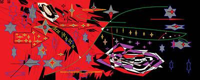 Bipolar Digital Art - Bipolar Stars by Sam Persons