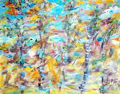 Painting - Birch Abstract  by Mary Sedici