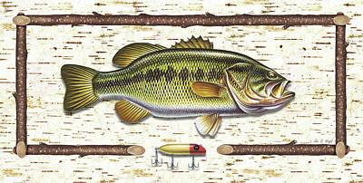 Birch Bass Print by JQ Licensing