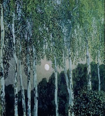 Birch Trees Print by Aleksandr Jakovlevic Golovin