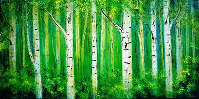 Birch Trees Print by Art Ilse  Schill