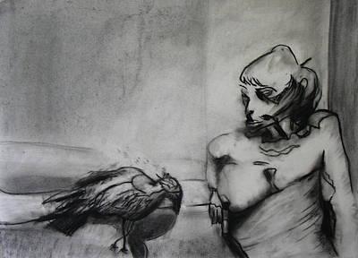 Bird Drama Print by Brad Wilson