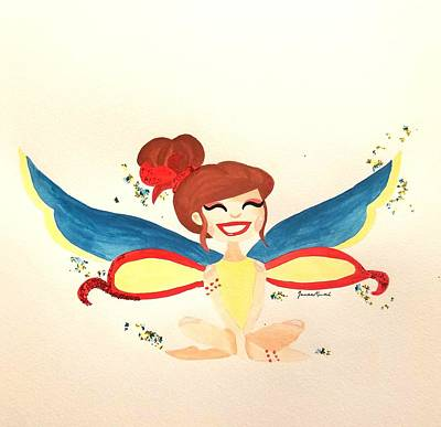Clapping Painting - Bird Fairy by Jenae Rusch