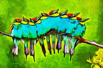 Insects Painting - Bird Family - Pa by Leonardo Digenio
