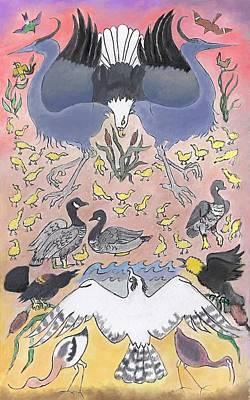 Bird Festival Original by Dawn Senior-Trask