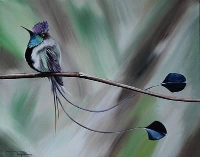 Brunch Painting - Bird N.4  by Rebecca Tecla