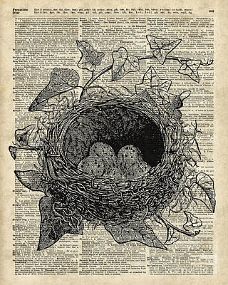 Bird Nest With Eggs Print by Jacob Kuch