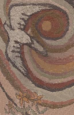 Hopi Drawing - Bird Of Desert Sand by Dawn Senior-Trask