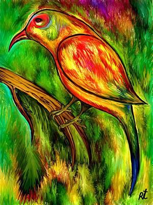 Bird On A Branch Print by Rafi Talby