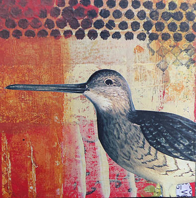 Sandpiper Mixed Media - Bird Series by Rozsi Moser