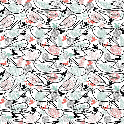 Bird Solid Print by Elizabeth Taylor
