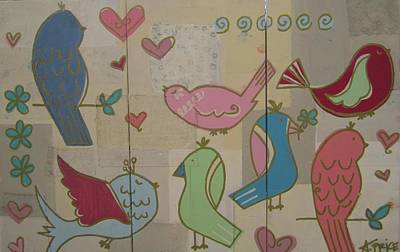 Birdie Tea Party Print by Ashley Price