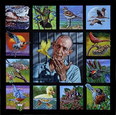 Birdman Painting - Birdman Of Alcatraz by John Lautermilch