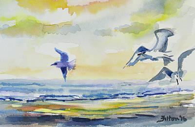 Painting - Birds At The Shoreline by Julianne Felton
