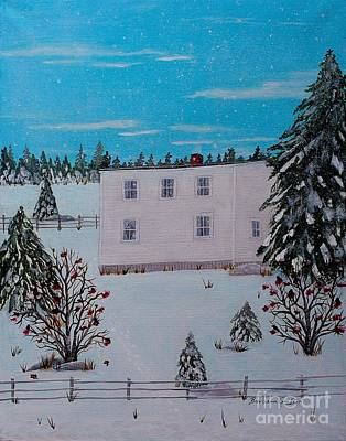 Painting - Birds Berries And November Snow by Barbara Griffin