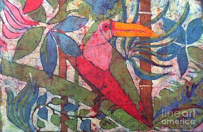 Toucan Mixed Media - Birds Eye View by Caroline Street