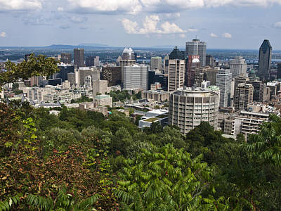 Montreal Cityscapes Photograph - Birds Eye View Of Montreal, Canada by Stacy Gold