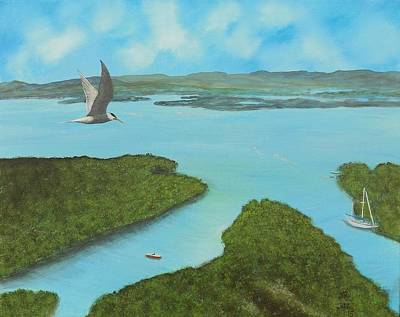 Puerto Rico Painting - Birds Eye View by Tony Rodriguez