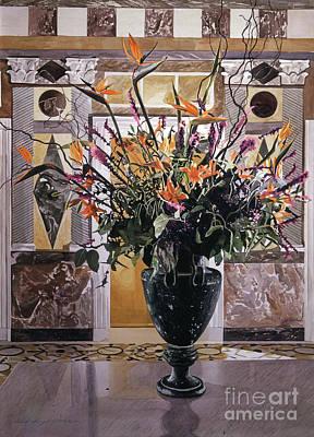 Interior Still Life Painting - Birds Of Paradise Getty Museum by David Lloyd Glover