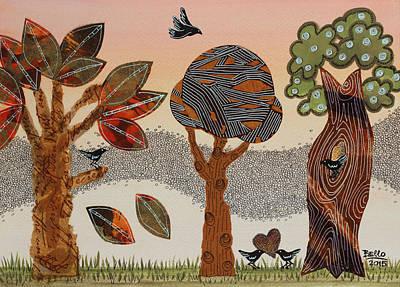 Birds Refuge Print by Graciela Bello