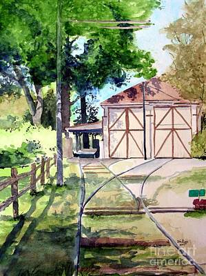 Fort Collins Painting - Birney Trolley Barn by Tom Riggs
