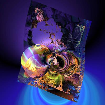 Algorithmic Digital Art - Birth By Computer by Claude McCoy