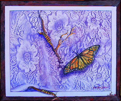Decoraci Painting - Birth Of Butterflies by Estela Robles
