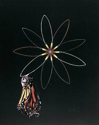 Nature Painting - Birth Of Butterfly by Robin Aisha Landsong